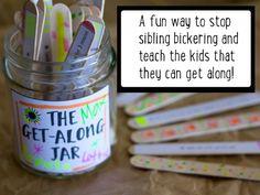 Put a stop to sibling bickering: Make a get-along jar - Kidspot