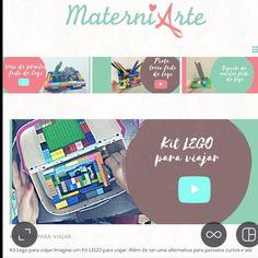 Hoje tem um KIT lego para viajar. Tem passo a passo no canal e no site http://ift.tt/1oBoEWj  #grupomamaesdesp #materniarte