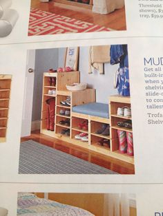 Mud room: Trofast frames & shelves from IKEA