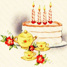 Images were fixed in photoshop and taken from my collection of Vintage Birthday Greeting cards circa Birthday Party Images, Happy Birthday Cake Images, Happy Birthday Quotes, Boy Birthday, Retro Birthday, Vintage Greeting Cards, Birthday Greeting Cards, Birthday Greetings, Vintage Birthday Cakes