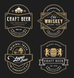 Find Vintage Frame Design Labels Banner Sticker stock images in HD and millions of other royalty-free stock photos, illustrations and vectors in the Shutterstock collection. Beer Logo Design, Beer Label Design, Crea Design, Ad Design, Whiskey Label, Whisky, Wine Logo, Label Templates, Vintage Labels