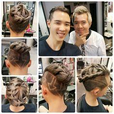 #newhairstyle #haircolor #thankyou #hairatelier #celebrity #kokwei #kifvalentine #hairtattoo #downarrow #backtobasic #新颜色 #灰紫 #发廊 #染发 #谢谢 #赞助 #辫子
