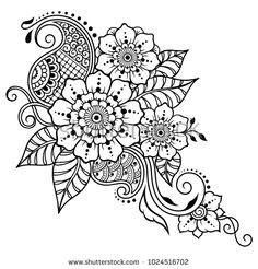 Mehndi Lotus Flower Pattern Henna Drawing Stock Vector (Royalty Free) 466807136 Henna tattoo flower template in Indian style. Ornamental pattern in the oriental style. Mandala Tattoo Design, Dotwork Tattoo Mandala, Flower Tattoo Designs, Flower Tattoos, Henna Mandala, Arm Tattoo, Paisley Tattoos, Henna Tattoos, Estilo Mehndi