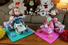 Diaper Cake Motocycle With Cargo Bags