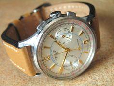 Fine Vintage Strela Poljot CAL 3017 Pilot Wrist Chronograph 1960'S Display Back | eBay