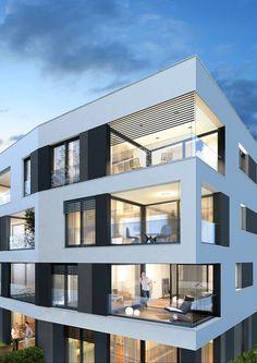 Concept Architecture, Facade Architecture, Residential Architecture, Building Facade, Balcony Design, Facade Design, Modern Buildings, Lofts, Apartment Design