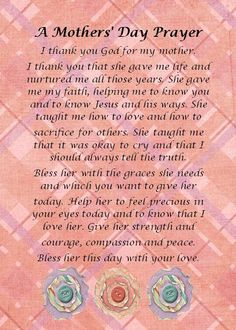 Happy Mothers Day Quotes : QUOTATION – Image : As the quote says – Description mother's day prayer – Yahoo Search Results Christian Mothers Day Poems, Mother Poems, Happy Mother Day Quotes, Mother Day Wishes, Mother Quotes, Mom Quotes, Mom Poems, Famous Quotes, Christian Quotes