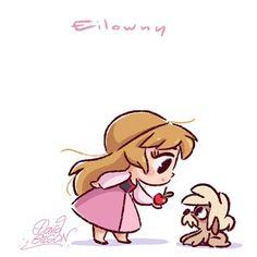 Chibies of Disney's Eilowny & Gurgi Facebook.com/artofdavidgilson  davidgilson.tumblr.com #theBlackCauldron #tarametlechaudronmagique #Eilowny #princessEilowny #princesseeloise #Gurgi #Gurki #fanart #DavidGilson