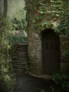 whimsical-nostalgia: bluepueblo: Ivy Tower Entrance, Worcester, Massachusetts photo via misaddie Nice to have something close pop up on my dash Beautiful World, Beautiful Places, Palaces, Abandoned Places, Belle Photo, Stairways, Monuments, Fairy Tales, Scenery