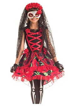 The Day of the Dead Senorita Girls Costume is the best 2019 Halloween costume for you to get! Everyone will love this Girls costume that you picked up from Wholesale Halloween Costumes! Sugar Skull Costume, Sugar Skull Halloween, Day Of The Dead Girl, Day Of The Dead Skull, Halloween Fancy Dress, Halloween Costumes For Girls, Halloween Ideas, Halloween 2017, Halloween Birthday
