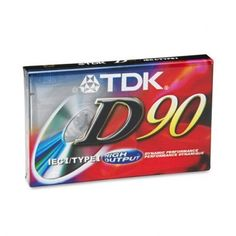 Audio Cassette - Normal Bias, 90 Minutes (45 x 2)(sold in packs of 3) by TDK. $9.87. Audio Cassette - Normal Bias,  90 Minutes (45 x 2)(sold in packs of 3)