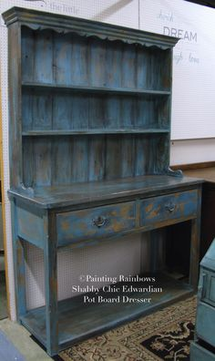 Rustic , Shabby Chic Georgian, Edwardian Pot Stand Dresser.Painted, annie sloan,farmhouse