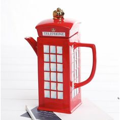 Claybox London Telephone Booth Teapot