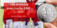 The Royal Mint - World Cup 50th Anniversary 1966 World Cup Silver Coin for just £66.