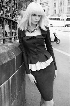 Model: Abbey Lee Kershaw | Photographer: Nicole Bentley | Stylist: Christine Centenerafor | Portmans A/W 2011