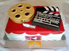 Movie Clapper Board Cakes | Movie Theme Sweet Sixteen Cake | Flickr - Photo Sharing! Hollywood Cake, Hollywood Theme, 25th Birthday Parties, Birthday Cakes, Outdoor Movie Party, Sweet Sixteen Cakes, Movie Cakes, Red Carpet Party, Movie Themes