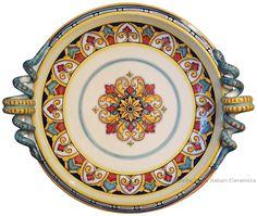 Italian Ceramic Centerpieces round platters