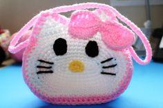 "Crochet Childs' Purse Inspired by ""Hello Kitty"" Pattern by: Yolanda Soto LopezMaterialsHook G/6 4.25 Hook I/ 9&nb..."
