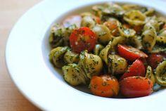 Orecchiette with Pesto and Tomatoes