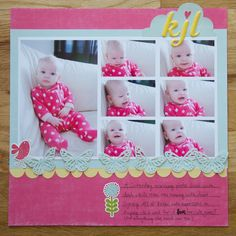 scrapbook baby girl ideas - Google Search