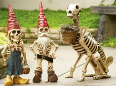 Skeleton Gnomes