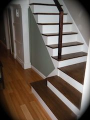 Painted Risers....wood Treads | Staircase U0026 Railings | Pinterest | Wood  Stairs, Stair Railing And Woods