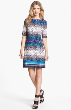 Love this geometric print dress!