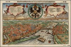 View of Frankfurt by Conrad Faber von Kreutznach, 1550.