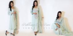 from Rukhsana Esrar Runi RTW Spring/Summer Collection 2015 #mint #silver #embroidery #pret #salwarkameez #readytowear #rtw #casual #bengali #bangladeshi #desi #casualwear #designer #RukhsanaEsrarRuni