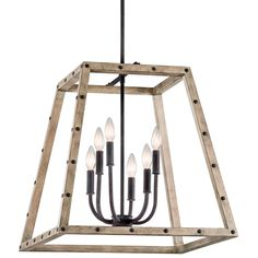 Large Distressed Wood Industrial Style Lantern $498 shades of light