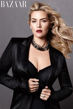 Kate Winslet !!!! The 38-year-old actress sat down with Harper's Bazaar to discuss her marriage, their newborn son and why she is forced to lead a double life.