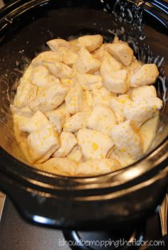 Easy Chicken and Dumplings in the Slow Cooker