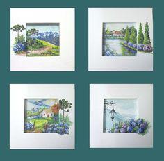 Composição diferente nas paisagens serranas Médios Formatos em moldura caixa