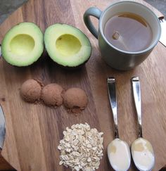 At Home Anti-Aging Face Mask, using all natural ingredients. ---doing this. Just 'cause I have all these ingredients handy 0:)
