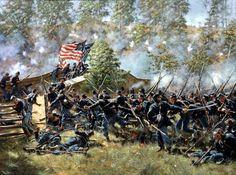 September 17,1862, Antietam Creek, 51st Pennsylvania charging across the bridge (Don Troiani)