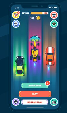 Mobile Game Design: Real Multiplayer Racer - Fitness and Exercises, Outdoor Sport and Winter Sport Sprites, Game Design, Ui Design, Gta, 2d Game Art, Game Gui, Game Props, Game Interface, Games For Teens