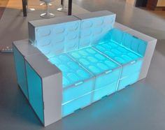 recycle sofa | Muka Design Lab makes a beautiful sofa with recycled EPS fish boxes