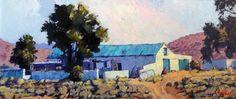 Karoo Out-buildings - Ted Hoefsloot - 555 x 240 ( sold) South African Artists, Landscape Art, Faeries, Ted, Art Gallery, Afrikaans, Art Oil, Oil Paintings, Drawings
