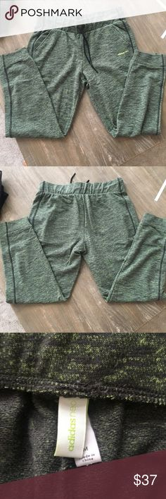 Heathered green adidas joggers (full length) Heathered green adidas joggers (full length) (worn 1x) adidas Pants Track Pants & Joggers