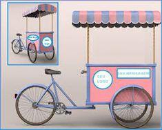 Resultado de imagem para food bike cupcake