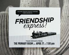 "personal blog. loved the ""friendship express' idea.  click on Relief Society for some more ideas."