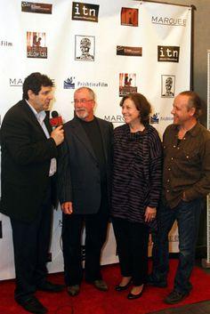 "Jeff Sable, Marianne J. Murphy and Zander Villayne at the New York International Film Festival 2011 Red Carpet promoting ""Life at the Resort""."