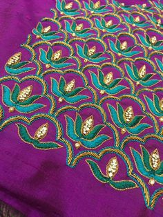 Tambour Embroidery, Embroidery Fashion, South Indian Blouse Designs, Wedding Saree Blouse Designs, Aari Work Blouse, Maggam Work Designs, Sari Design, Blouse Patterns, Sleeve Designs