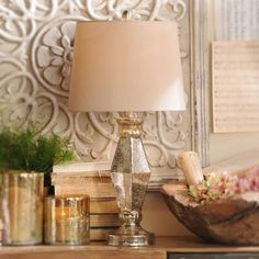 Bring old-style beauty to any room with the Diamond Mercury Glass Table Lamp. This lamp is perfect for bedside reading or lighting up your favorite cozy corner. Touch Table Lamps, Cozy Corner, Unique Lamps, Mercury Glass, New Room, Apartment Living, Country Decor, Light Up, Glass Table