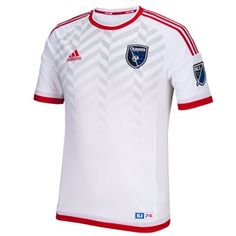 Men's San Jose Earthquakes adidas White 2015 Secondary Authentic Jersey