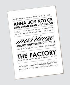 Wedding announcement (etsy)