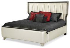 Beverly Blvd Queen Upholstered Bed - modern - beds - Carolina Rustica