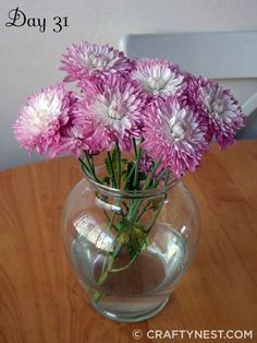 Long lasting cut flowers - certain types of flowers and leafy plants last longer than others, with proper care up to a month.