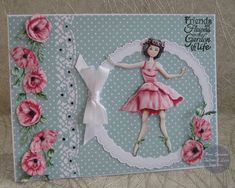 "Hello everyone, Sharing my DT samples for Tattered Lace ""Floral Friends Collection"" launching on Create and Craft TV Thursday Create And Craft Tv, Tattered Lace Cards, Lace Flower Girls, Kids Cards, Hello Everyone, I Card, Cardmaking, Birthday Cards, Scrap"