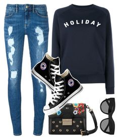 """""""Untitled #843"""" by cece-cherry ❤ liked on Polyvore featuring Holiday, Tommy Hilfiger, RED Valentino, Le Specs and Converse"""